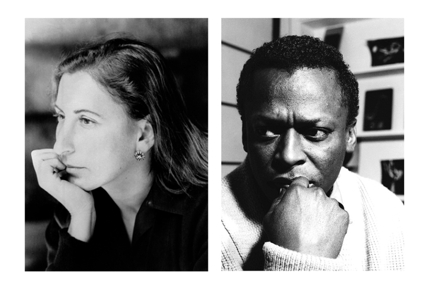 Miuccia Prada (left) and Miles Davis (right)